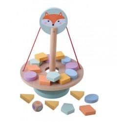 Drewniana balansująca gra z liskiem