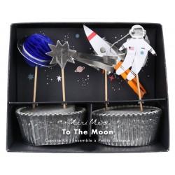 Meri Meri - Zestaw do babeczek Kosmos