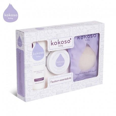 Kokoso Baby Newborn Essentials Kit zestaw prezentowy Kąpiel Noworodka