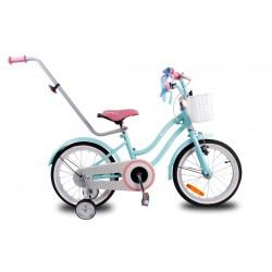 """Rowerek dla dzieci 16"""" Star bike - turkusowy z różowym siodełkiem"""
