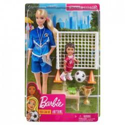 Barbie Trenerka piłki nożnej Zestaw