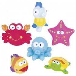 Morskie stworzenia do kąpieli - zestaw 6 sztuk