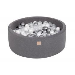 Suchy basen dla dziecka 90x30 cm + 200 piłek - ciemnoszary