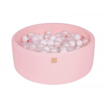 Suchy basen dla dziecka 90x30 cm + 200 piłek - różowy