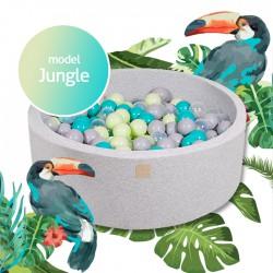 Suchy basen dla dziecka 90x40 cm + 250 piłek - Jungle