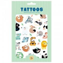 Petit Monkey - Tattoo Wild Animals imprezowy zestaw tatuaży