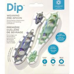 CogniKids Dip® 2 Sensoryczne łyżeczki do nauki samodzielnego jedzenia Slate & Sage