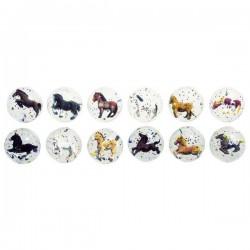 Skacząca piłeczka z końmi - zestaw 12 szt