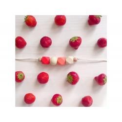 Naszyjnik silikonowy Strawberry