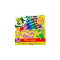 Kredki Supersticks 24 kolory w metalowym pudełku