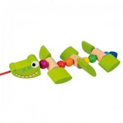 Krokodyl na sznurku do ciągnięcia