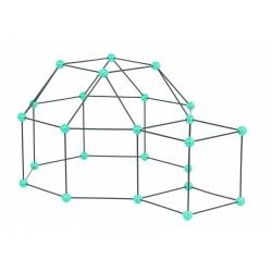 Zwariowany namiot, zestaw konstrukcyjny do budowy bazy - miętowo-szary