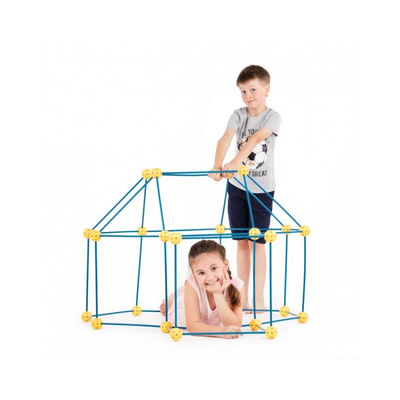 Zwariowany namiot, zestaw konstrukcyjny do budowy bazy