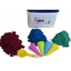 Piasek kinetyczny kolorowy z foremkami lody 3kg