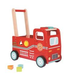 Jeździk pchacz wóz strażacki