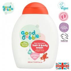 Good Bubble Organiczny żel wegański do mycia włosów i ciała Noworodka i Niemowlaka Dragon Fruit / Pitaya 250 ml