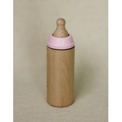 Butelka drewniana dla lalki Miniland Różana