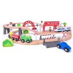 Kolejka z elektryczną lokomotywą