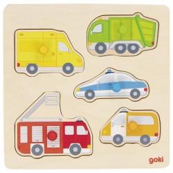 Układanka Goki pojazdy