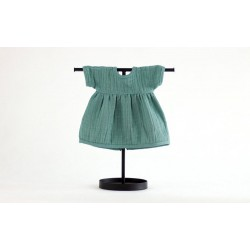 Sukienka muślinowa dla lalki 38 Frosty Green
