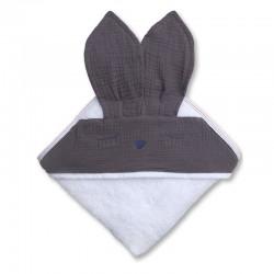 Hi Little One - Ręcznik z kapturem 100 x 100 SLEEPY BUNNY hooded bath towel Iron