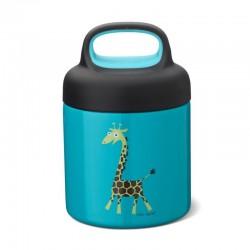 Carl Oscar TEMP Lunch Jar - Termos ze szlachetnej stali nierdzewnej 0.3 L Turquoise - Giraffe