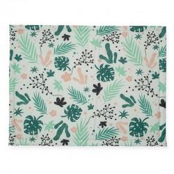 Jollein - Mata do zabawy i raczkowania 78 x 96 cm Leaves