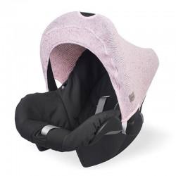 Jollein - Osłonka tkana do fotelika nosidełka 0 - 9 m-cy Confetti Knit VINTAGE PINK