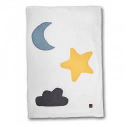 Hi Little One - Kołderka do łóżeczka z oddychającej BIO bawełny organicznej GOTS Day & Night White