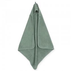 Jollein - Ręcznik kąpielowy z kapturem 75 x 75 cm FROTTE ASH GREEN