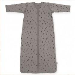 Jollein - Śpiworek niemowlęcy całoroczny 4 pory roku z odpinanymi rękawami Spot STORM GREY 70 cm
