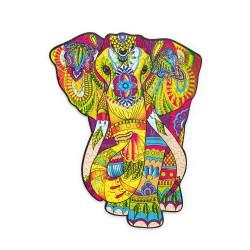 Puzzle drewniane kolorowe Słoń