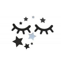 Oczka z niebieskimi gwiazdkami