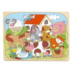 Puzzle kształty zwierzęta wiejskie