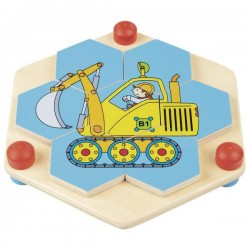 Goki puzzle hexagonalne pojazdy