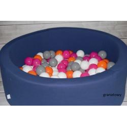 Suchy basen z piłeczkami 90x40 okrągły - kolor