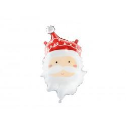 Balon foliowy Mikołaj, 37x60cm, mix