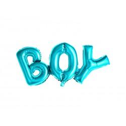 Balon foliowy Boy, 67x29cm, niebieski (1 karton / 50 szt.)