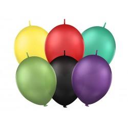 Balony 12'' z łącznikiem, Pastel mix (1 op. / 100 szt.)
