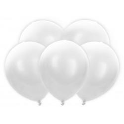 Balony Led 30cm, biały (1 op. / 5 szt.)