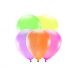 Balony neonowe 25cm, mix (1 op. / 5 szt.)