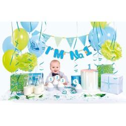 Zestaw dekoracji party - I'm no. 1, niebieski