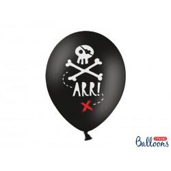 Balony 30cm, Piraci, Pastel Black (1 op. / 6 szt.)