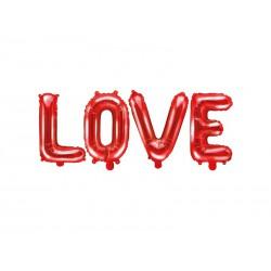 Balon foliowy Love, 140x35cm, czerwony (1 karton / 50 szt.)