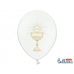 Balony 30cm, IHS, Pastel Pure White (1 op. / 50 szt.)