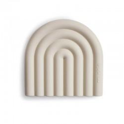 Mushie - Gryzak silikonowy RAINBOW Shifting sand