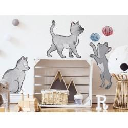 Naklejki na ścianę - kotki