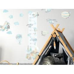 Naklejki na ścianę - Miarka - samoloty