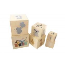 Drewniane kubeczki zabawka dla dzieci
