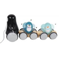 Rodzina pingwinów do ciągnięcia
